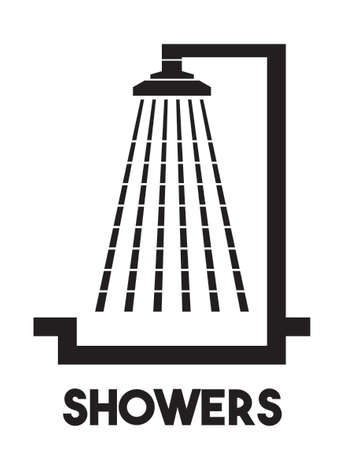 Showers vector icon Stock Illustratie