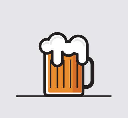 Beer mug vector icon