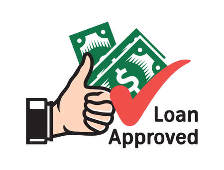 Loan Approved vector icon Stock Illustratie