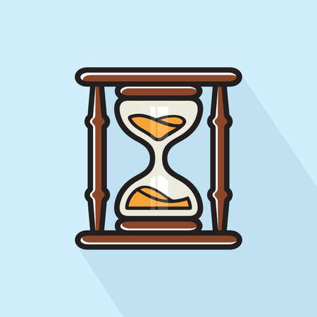 Hourglass  sand clock vector icon