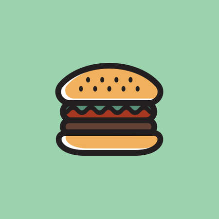 Hamburger vector icon Stock Illustratie
