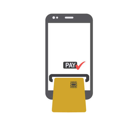 Mobile payments vector illustration Stock Illustratie