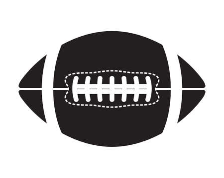 American football ball - vector icon