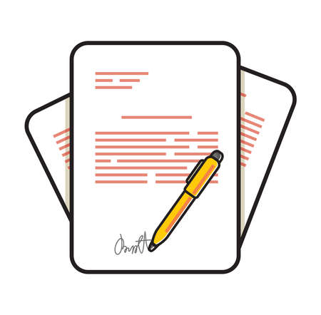 Contract sheet vector Icon