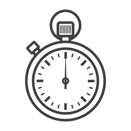 Clock vector icon - stopwatch Stock Illustratie