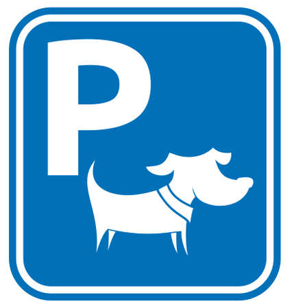 Dog parking area