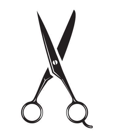 scissors icon - hair salon Stock Illustratie