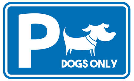 Parking for dogs vector icon Stock Illustratie
