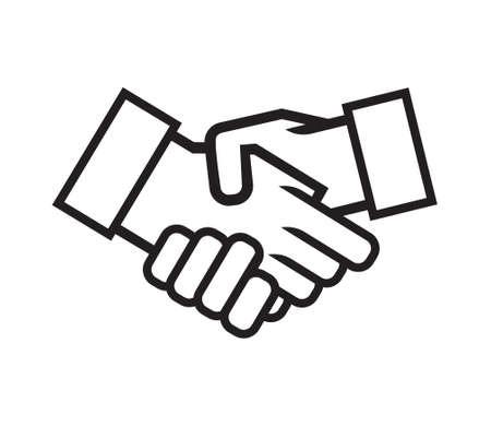 Negocio apretón de manos vector icono