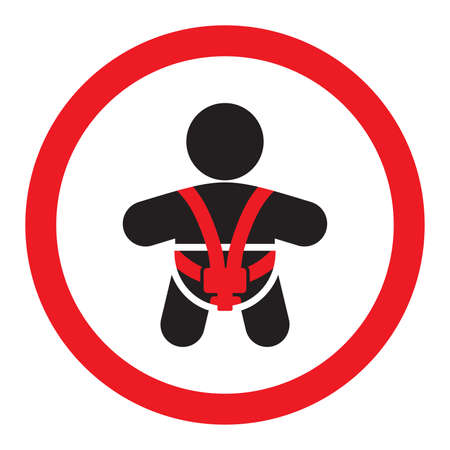 Baby car seat sign Illustration