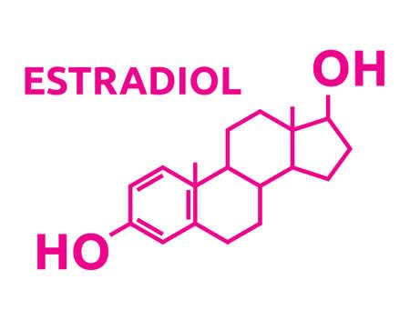 steroid: Estradiol Hormones symbol
