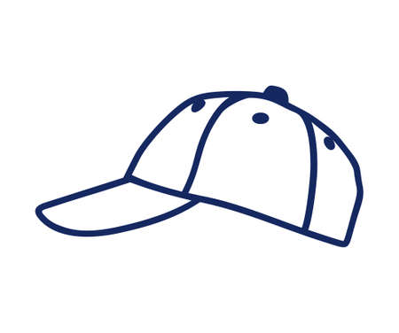 Baseball cap vector icon Illustration