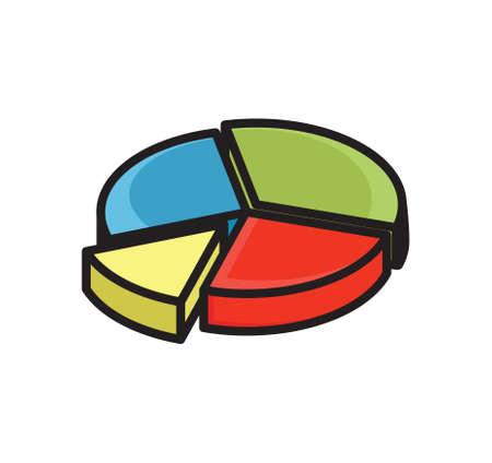 infographic cirkeldiagram Vector Illustratie