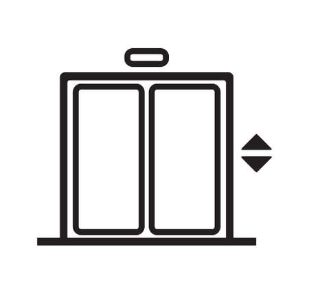 Elevator vector icon Stock Illustratie