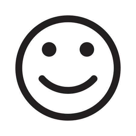 smile happy: Smile vector icon - Happy face Illustration