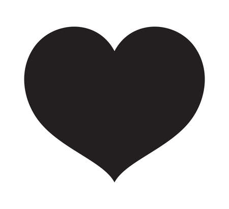 Black Heart vector icon