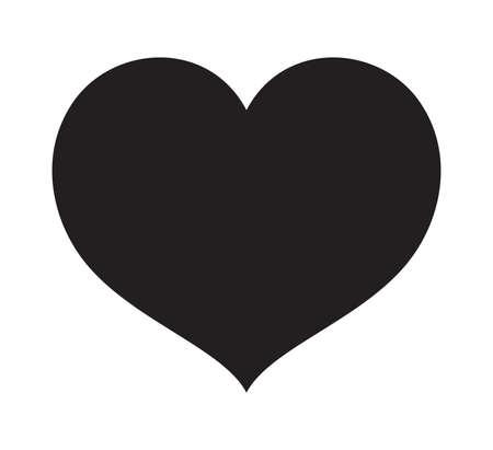 Black Heart vector icon