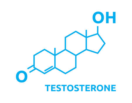 Testosterone Hormones symbol Stock Illustratie