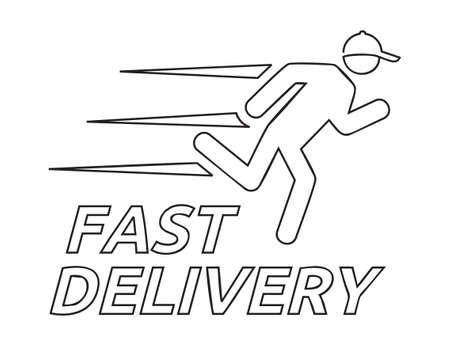 Fast delivery vector icon Stock Illustratie