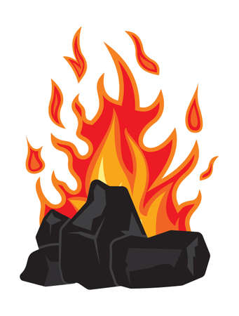 炭と火 写真素材 - 77821086