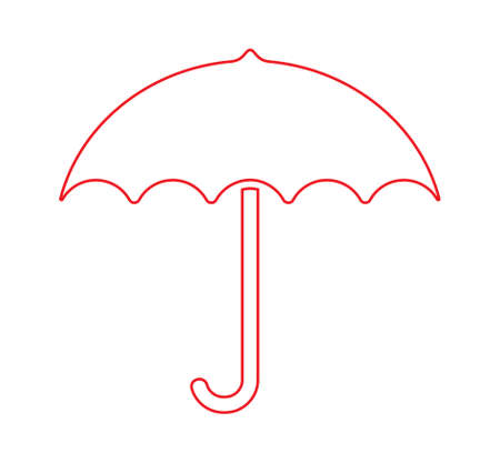Umbrella vector icon Stock Illustratie