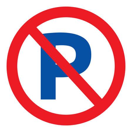 Geen parkeren vector teken