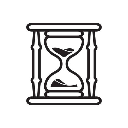 Hourglass - sand clock vector icon