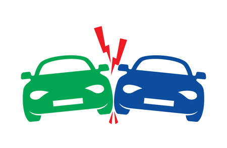 car crash vector icon