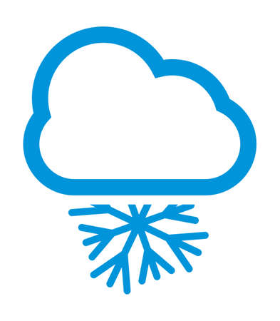 rainbow sky: Cloudy and snow weather vector icon Illustration