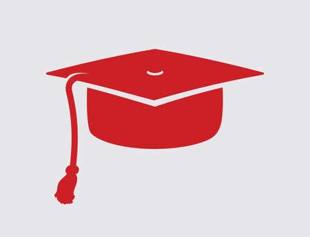 Graduation cap vector icon