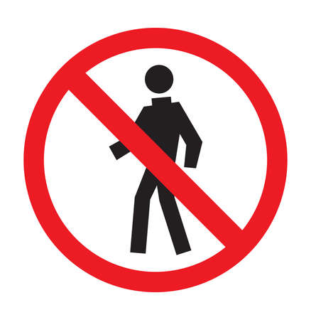 no walking area