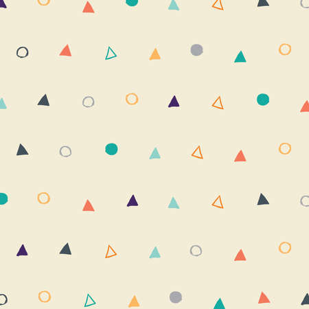 Retro pattern triangle and circle
