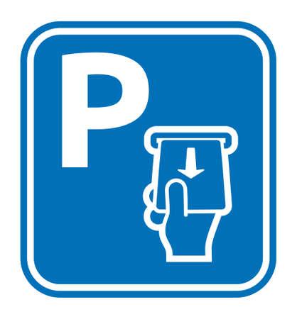 Parking card vector icon