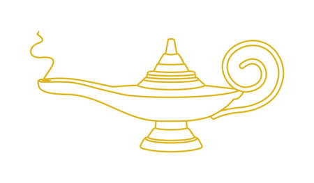 aladdin lamp vector icon