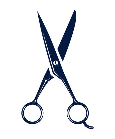 scissors icon - hair salon 矢量图像