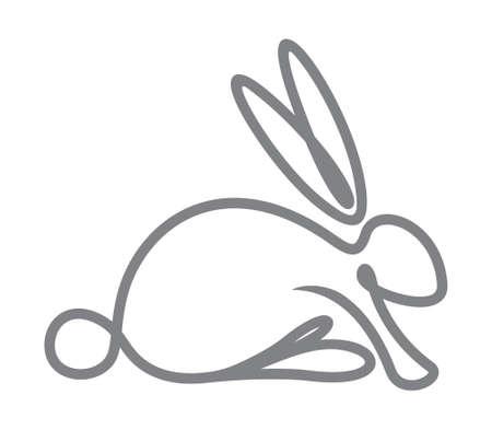 Konijn, konijn pictogram. Stock Illustratie