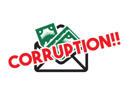 Stop corruption vector sign Illustration