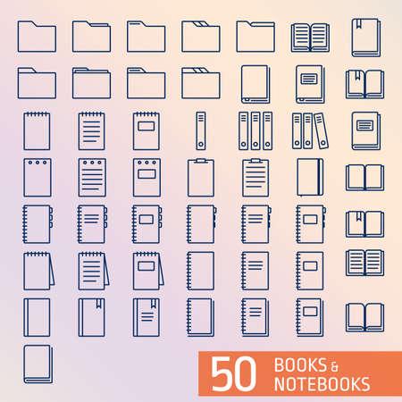 50 Boeken Notepad overzicht pictogrammen