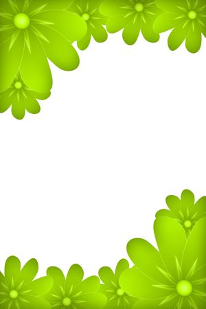 green  flowers isolated on white background Stock Photo
