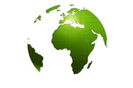 green isolated world globe