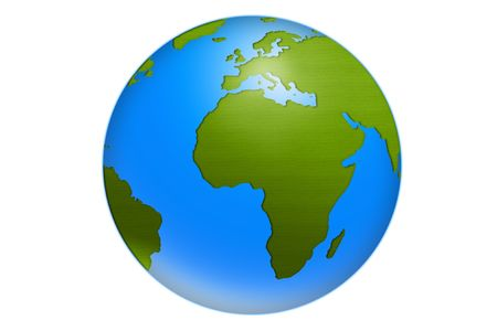 green world globe illustration isolated on white