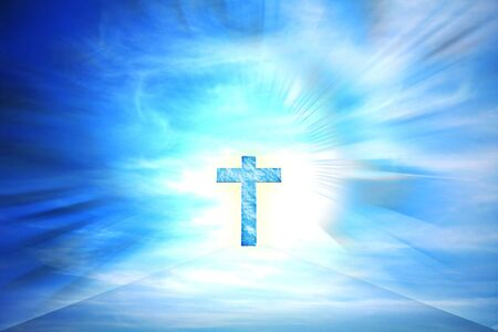 blue holy cruz illustration Stock Photo