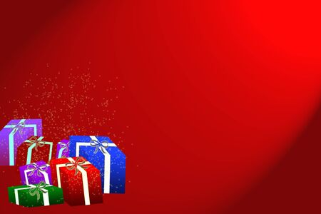 gift graphic on red background