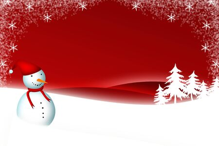 christmas card with snowman