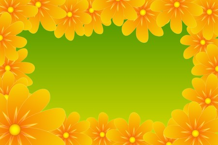 yellow flower frame