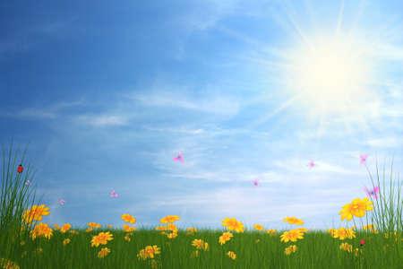 spring card illustration Stock Illustration - 6946541