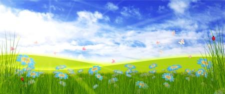 natural spring card photo