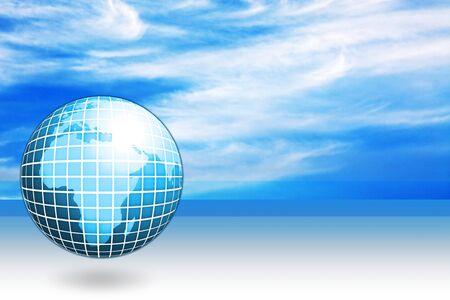 globalism: blue business globe illustration