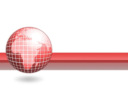 globalism: business globe card
