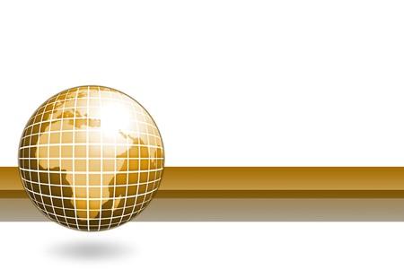 business globe card